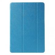 Δερμάτινη Θήκη Βιβλίο Tri-Fold με Βάση Στήριξης (Όψη Μεταξιού) για Samsung Galaxy Tab A 9.7 T550 T555 - Γαλάζιο