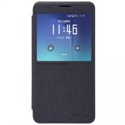 NILLKIN Sparkle Series Δερμάτινη Θήκη Βιβλίο Smart Cover για Samsung Galaxy Note 5 N920 - Μαύρο