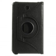Black Lychee 360 Rotation Stand Leather Case for Samsung Galaxy Tab 4 7.0 T230 T231 T235