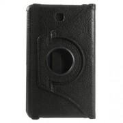 Περιστρεφόμενη Δερμάτινη Θήκη Βιβλίο με Βάση Στήριξης για Samsung Galaxy Tab 4 7.0 T230 T231 T235 - Μαύρο
