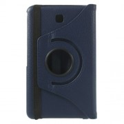 Dark Blue 360 Swivel Stand Lychee Leather Skin Case for Samsung Galaxy Tab 4 7.0 T230 T231 T235
