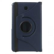 Περιστρεφόμενη Δερμάτινη Θήκη Βιβλίο με Βάση Στήριξης για Samsung Galaxy Tab 4 7.0 T230 T231 T235 - Σκούρο Μπλε