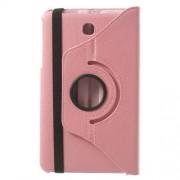 Περιστρεφόμενη Δερμάτινη Θήκη Βιβλίο με Βάση Στήριξης για Samsung Galaxy Tab 4 8.0 T330 T331 T335 - Ροζ