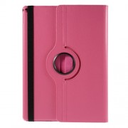 For iPad Pro 12.9 inch 360 Rotating Stand Lychee Leather Smart Cover - Rose
