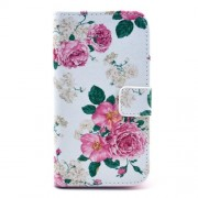For Samsung Galaxy S4 I9500 I9502 I9505 Aesthetic Blooming Peony Leather Wallet Cover with Stand