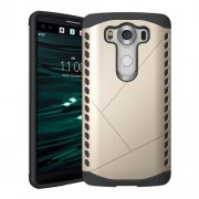 PC TPU Protective Hybrid Cover for LG V10 - Champagne