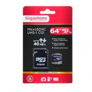 Memory Card Gigastone MicroSDXC UHS-1 64GB C10 Professional Series with SD Adaptor