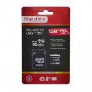 Memory Card Gigastone MicroSDXC UHS-1 128GB C10 Professional Series with SD Adaptor