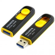 ADATA USB 3.0 DashDrive 64GB AUV128 - Black/Yellow