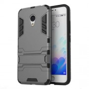 PC TPU Hybrid Shell for Meizu m3 with Kickstand - Grey