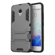 PC TPU Hybrid Case for Meizu M3 Note/Blue Charm Note3 with Kickstand - Grey