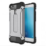 Tough Armor Υβριδική Θήκη Σιλικόνης TPU σε Συνδυαμό με Πλαστικό για Huawei P9 Lite / G9 Lite - Γκρι/Μαύρο