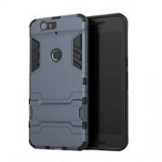 Υβριδική Θήκη Σιλικόνης TPU σε Συνδυαμό με Πλαστικό και με Βάση Στήριξης για Huawei Nexus 6P - Σκούρο Μπλε