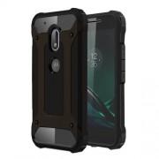 Tough Armor Υβριδική Θήκη Σιλικόνης TPU σε Συνδυαμό με Πλαστικό για Motorola Moto G4 Play - Μαύρο