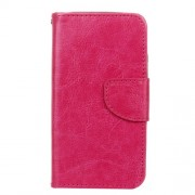 Crazy Horse Wallet Leather Stand Case for Microsoft Lumia 550 - Rose