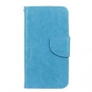 Δερμάτινη Θήκη Πορτοφόλι με Βάση Στήριξης για Microsoft Lumia 550 - Μπλε