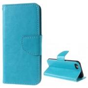Δερμάτινη Θήκη Πορτοφόλι με Βάση Στήριξης για iPhone 7 / 8 - Μπλε