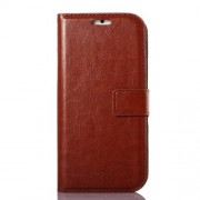 Oil Wax Crazy Horse PU Leather Stand Case for iPhone 6s / 6 4.7 inch - Brown