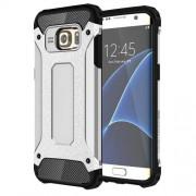 Tough Armor Υβριδική Θήκη Σιλικόνης TPU σε Συνδυαμό με Πλαστικό για Samsung Galaxy S7 Edge G935 - Ασημί