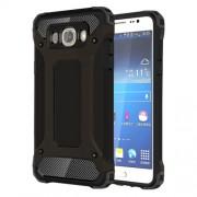 Tough Armor Υβριδική Θήκη Σιλικόνης TPU σε Συνδυαμό με Πλαστικό για Samsung Galaxy J7 (2016) - Μαύρο