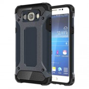 Armor Guard Plastic + TPU Shell Case for Samsung Galaxy J7 (2016) - Dark Blue
