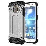 Tough Armor Υβριδική Θήκη Σιλικόνης TPU σε Συνδυαμό με Πλαστικό για Samsung Galaxy S7 G930 - Ασημί