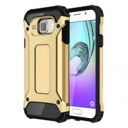 Armor Guard PC TPU Shell Case for Samsung Galaxy A3 SM-A310F (2016) - Gold