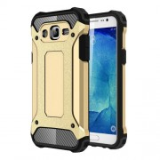 Armor Guard Plastic + TPU Hybrid Shell Cover for Samsung Galaxy J5 SM-J500F - Gold