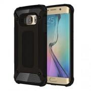 Armor Guard Plastic + TPU Hybrid Shell for Samsung Galaxy S6 Edge G925 - Black