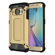 Armor Guard Plastic + TPU Phone Case for Samsung Galaxy S6 Edge G925 - Gold