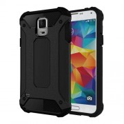 Armor PC TPU Back Case for Samsung Galaxy S5 G900 - Black