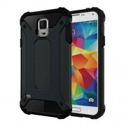 Armor PC TPU Back Phone Case for Samsung Galaxy S5 G900 - Dark Blue