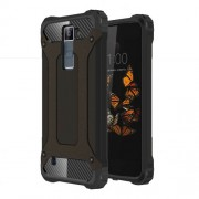 Armor Guard Plastic + TPU Hybrid Case for LG K8 - Black