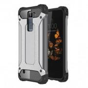 Armor Guard Plastic + TPU Hybrid Case Shell for LG K8 - Grey