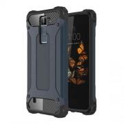 Armor Guard Plastic + TPU Hybrid Shell Cover for LG K8 - Dark Blue