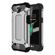 Armor Guard Plastic + TPU Hybrid Case Shell for LG K4 - Grey