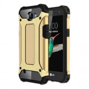 Armor Guard Plastic + TPU Hybrid Cover Case for LG K4 - Gold