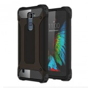 Armor Guard Plastic + TPU Hybrid Case for LG K10 - Black