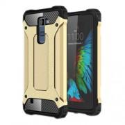 Armor Guard Plastic + TPU Hybrid Cover Case for LG K10 - Gold