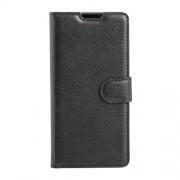 Litchi Grain Wallet Leather Case for Sony Xperia E5 - Black