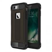 Tough Armor Υβριδική Θήκη Συνδυασμού Σιλικόνης TPU και Πλαστικού για iPhone 8 Plus / 7 Plus - Μαύρο/Μαύρο