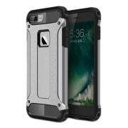 Armor Guard Plastic + TPU Hybrid Cover Case for iPhone 7 Plus / 8 Plus - Grey