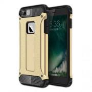 Tough Armor Υβριδική Θήκη Συνδυασμού Σιλικόνης TPU και Πλαστικού για iPhone 8 Plus / 7 Plus - Χρυσαφί/Μαύρο