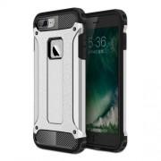 Tough Armor Υβριδική Θήκη Συνδυασμού Σιλικόνης TPU και Πλαστικού για iPhone 8 Plus / 7 Plus - Ασημί/Μαύρο