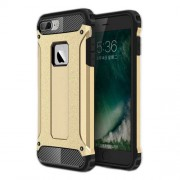 Armor Guard Plastic + TPU Hybrid Phone Case for iPhone 7 - Gold