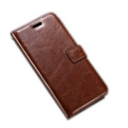 Crazy Horse Wallet Leather Stand Shell for Motorola Moto G4 Play - Brown