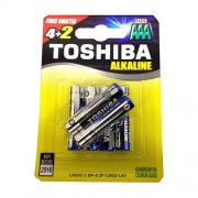 Toshiba Alcaline Batteries ΑΑΑ 1.5V LR03 BP4+2