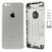 Μεταλλικό Καπάκι Μπαταρίας με Πλήκτρα και Βάση Κάρτας SIM (logo 6s) για iPhone 6 - Ασημί