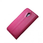 Litchi Texture Leather Flip Case w/ Stand for Motorola Moto G2 XT1063 / Dual SIM - Rose