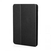XtremeMac Δερμάτινη Θήκη Βιβλίο με Βάση Στήριξης και Όψη Ανάγλυφη για iPad Mini 3 / 2 / 1 - Μαύρο Carbon Fiber